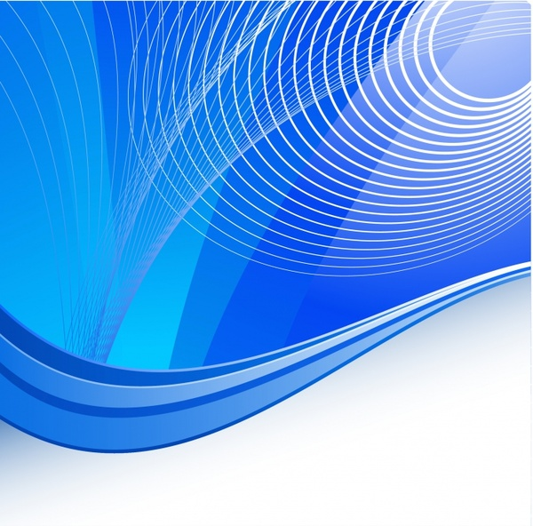 abstract background modern blue 3d curves ornament