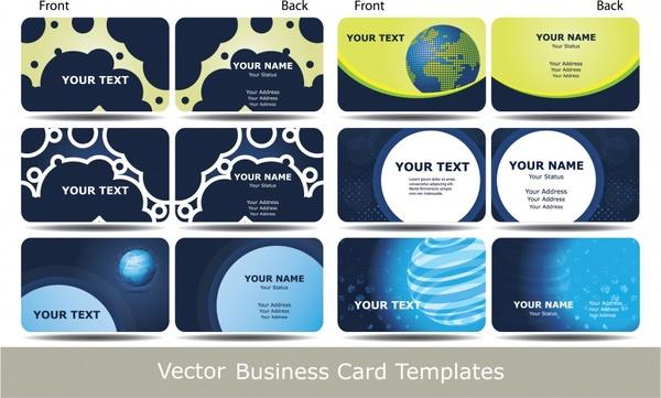 business card templates technology themes modern flat design