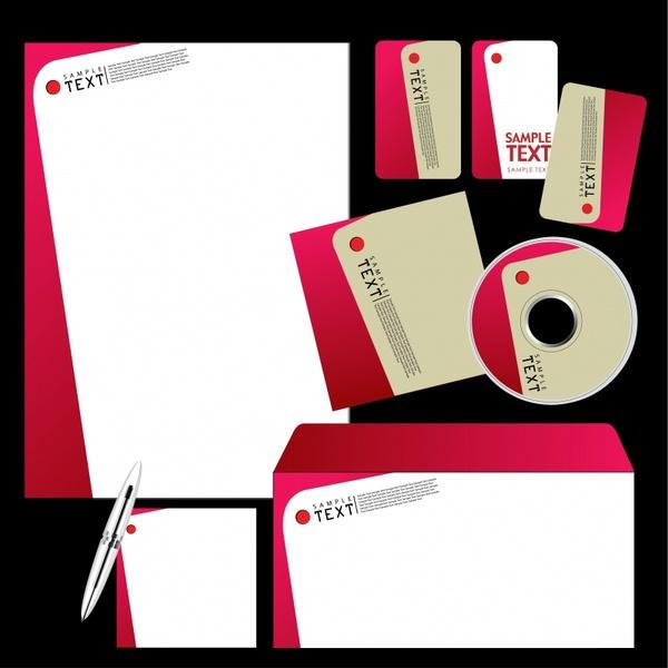 company identity template modern simple flat askew decor