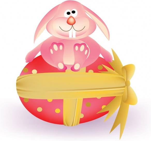 easter background cute bunny egg decor cartoon sketch