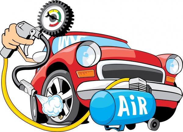vector cartoon car refueling