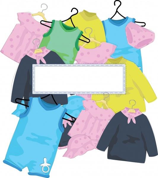 vector cartoon children clothes