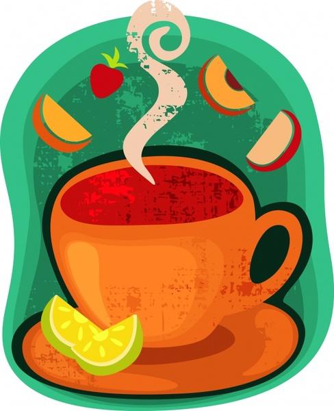 vector cartoon coffee cup stickers