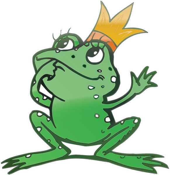 vector cartoon frog prince free vector in adobe illustrator ai ai rh all free download com Frog Silhouette Turtle Vector