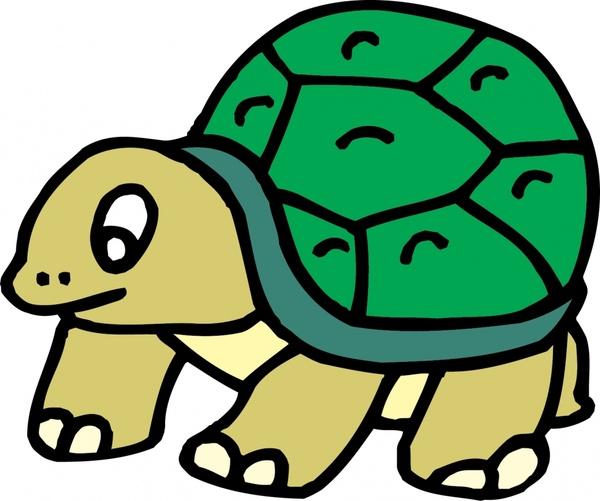 Vector Cartoon Tortoise Cangkang Penyu