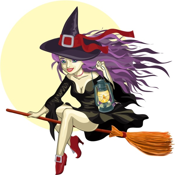Vector cartoon witch Free vector in Encapsulated ...