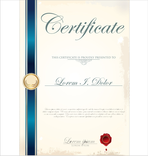 certificate template adobe illustrator free vector