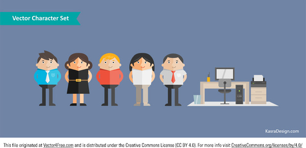 Vector character set Free vector in Adobe Illustrator ai