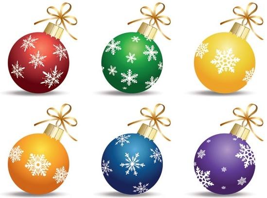 vector christmas ball hanging