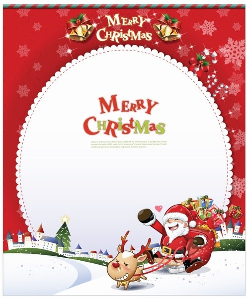 Vector Christmas Card With Santa Claus Free Vector In Encapsulated