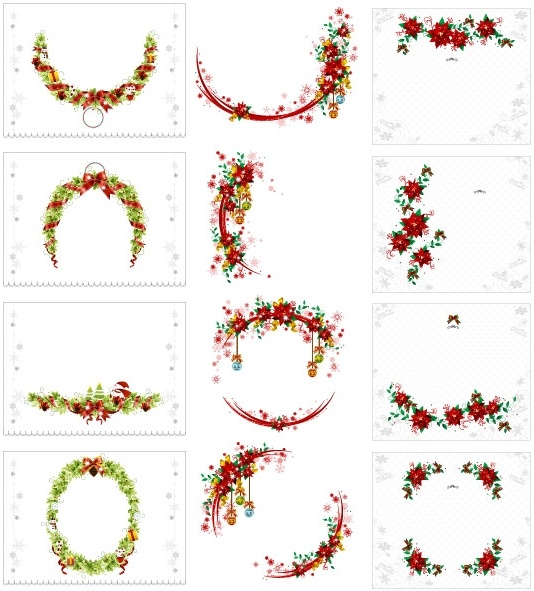 vector christmas wreath collection