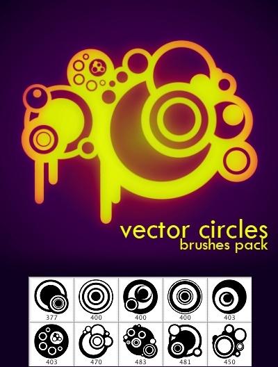 Vector Circle Photoshop Brushes