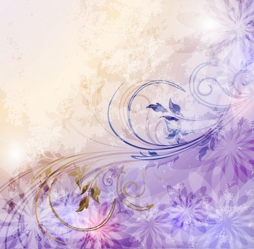 decorative floral background modern sparkling dynamic design