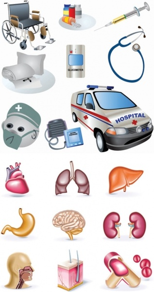 vector clip art of medical topics