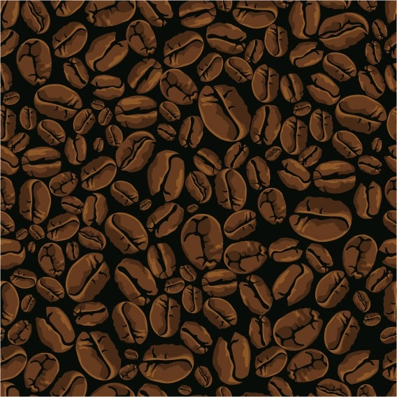 Vector Coffee Beans Background Free Vector In Encapsulated