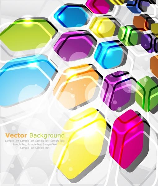 decorative background shiny modern colorful polygonal decor