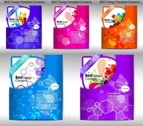 brochure templates colorful modern elegant decor