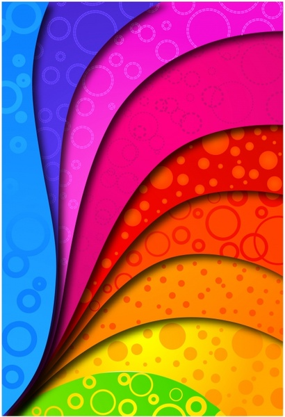 decorative background colorful curved layers decor