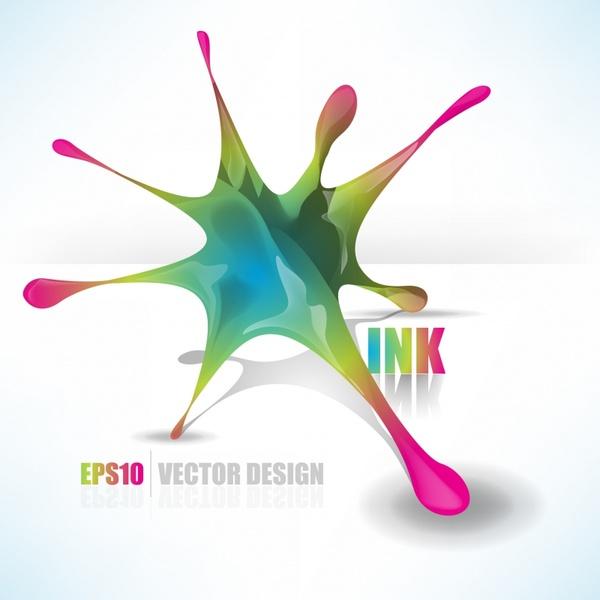 decorative ink background shiny dynamic modern 3d