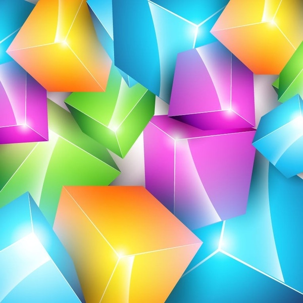 Vector Colorful Cube Background