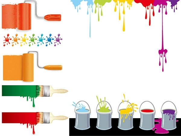 vector colorful paint