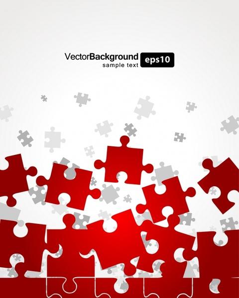 jigsaw puzzles background shiny modern flat dynamic design