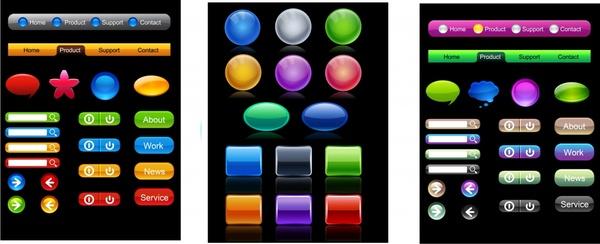 web navigation templates elegant colorful modern shapes