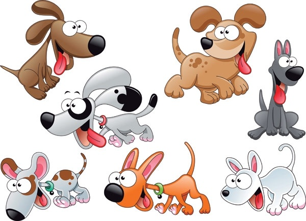 vector cute cartoon dog