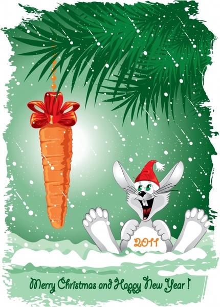 vector cute cartoon rabbit