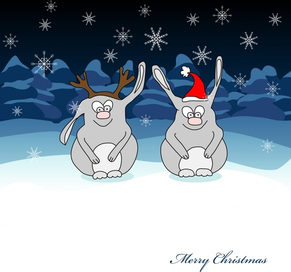 vector cute cartoon rabbit pictures
