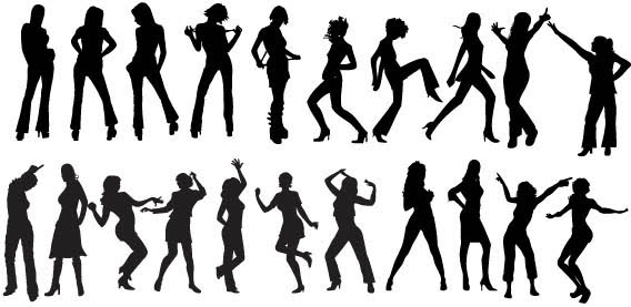 Vector Dancers Silhouettes Free Vector In Acrobat Reader