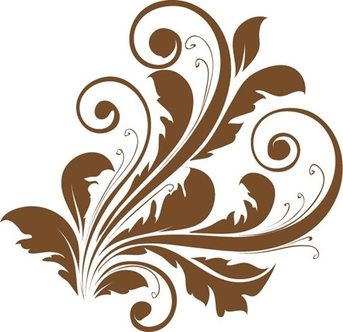 Vector Decorative Floral Design Free vector in Encapsulated