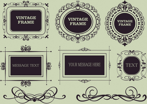 vector decorative vintage frames set free vector in encapsulated