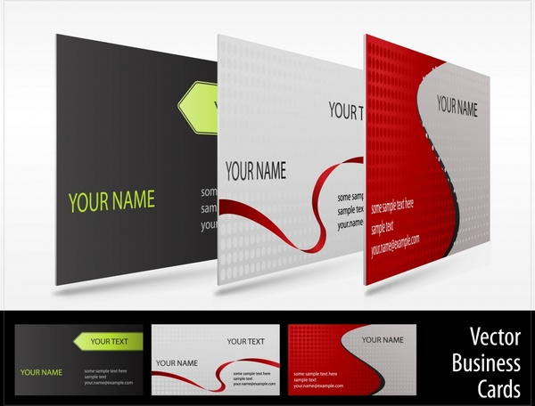 business card templates modern colored design