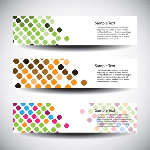 vector dot background fashion banners 1
