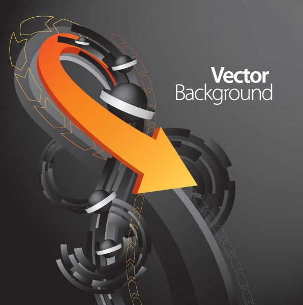 vector dynamic background 5 arrow