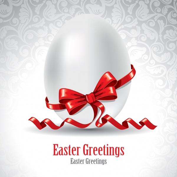 easter banner elegant egg ribbon decor