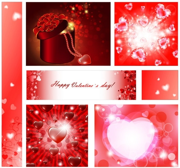 vector elements of a romantic valentine day