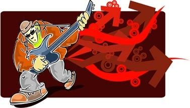 vector elements of rock music