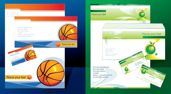 corporate identity templates basketball ecology themes