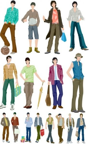 vector fashion boy