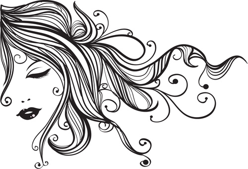 sketch of fashion girl dress free vector download  12 333
