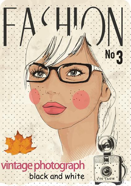 vector fashion girls design elements