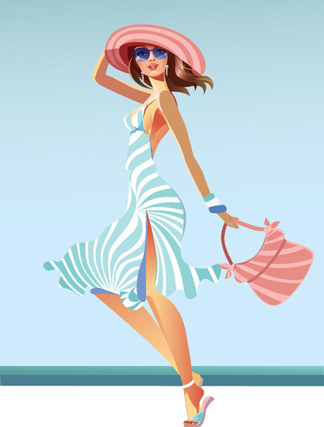 Fashion Girl Cartoon Free Vector Download 24,183 Free Vector For Commercial Use -5631