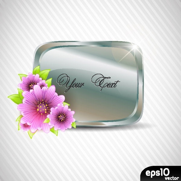 vector flowers frame and texture