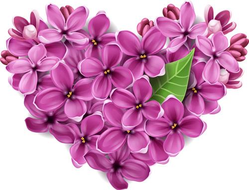 Vector flowers heart design elements free vector in encapsulated vector flowers heart design elements mightylinksfo