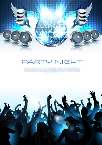 vector flyer summer night party design free vector in encapsulated