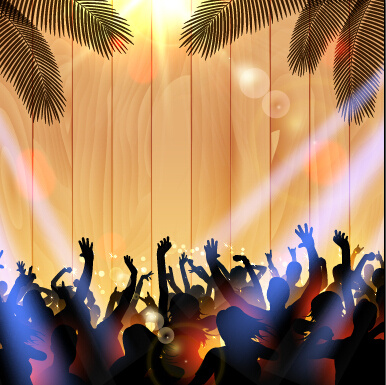 vector flyer summer night party design