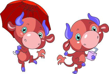 vector funny cartoon animal illustration