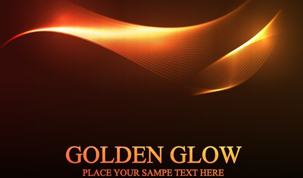 sparkling golden swirling background